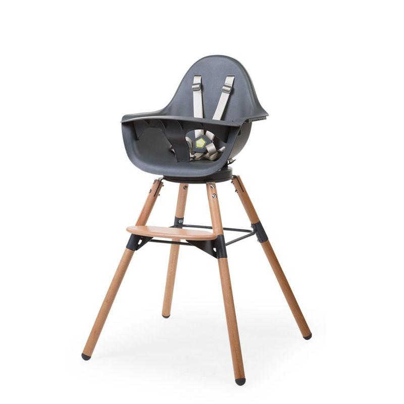 Chaise-haute Evolu One.80° CHILDHOME Naturel/anthracite