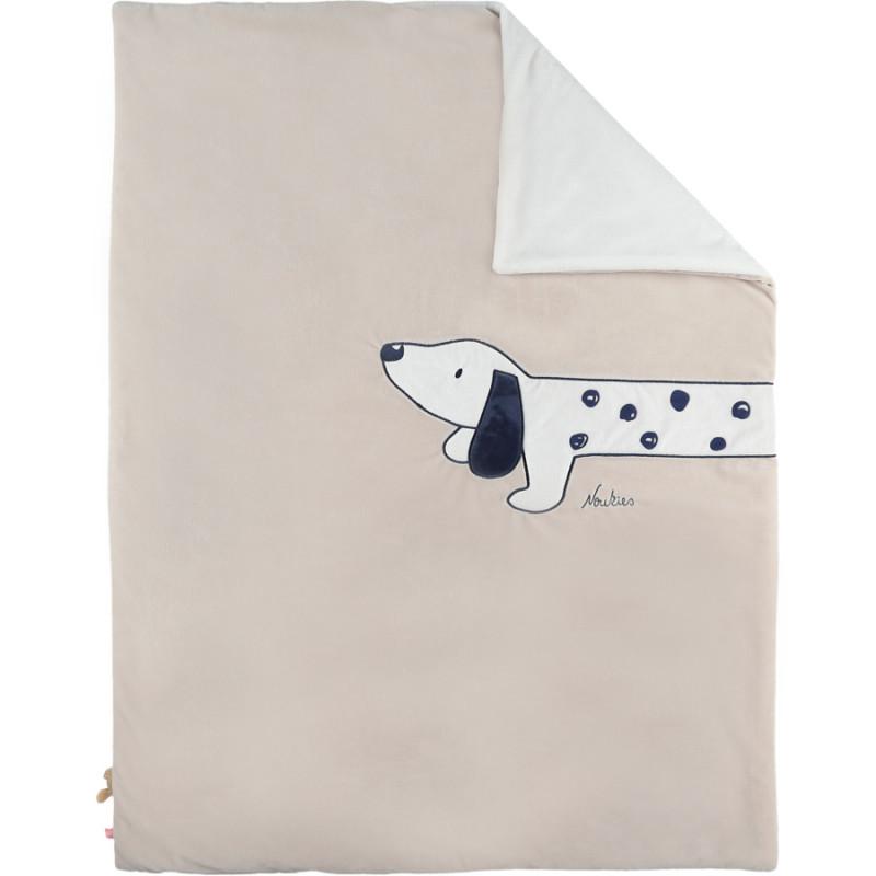 Couverture 75x100 cm Beige NOUKIE'S Fancy Dogs