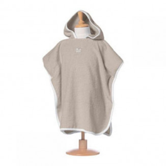 Poncho RED CASTLE 9-36mois Taupe/Blanc