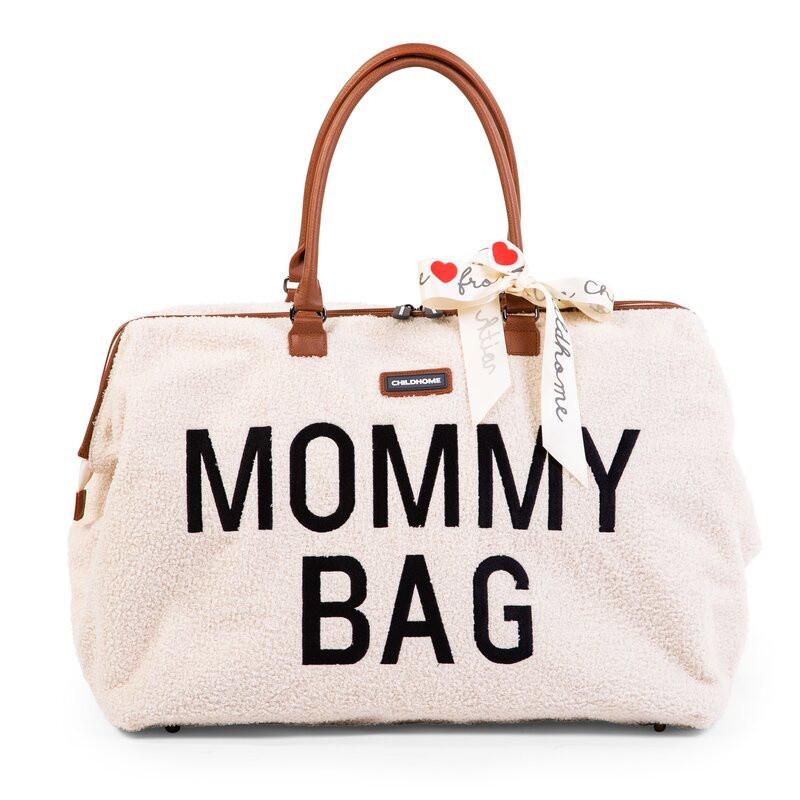 Sac à langer Mommy bag CHILDHOME Teddy Ecru