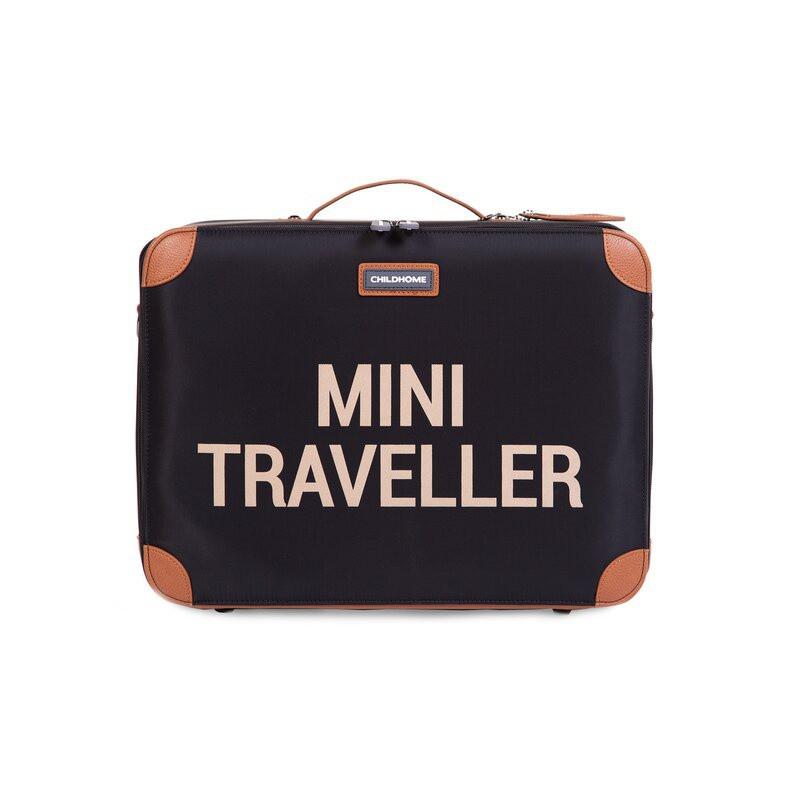 Valise Mini traveller CHILDHOME Noir/or