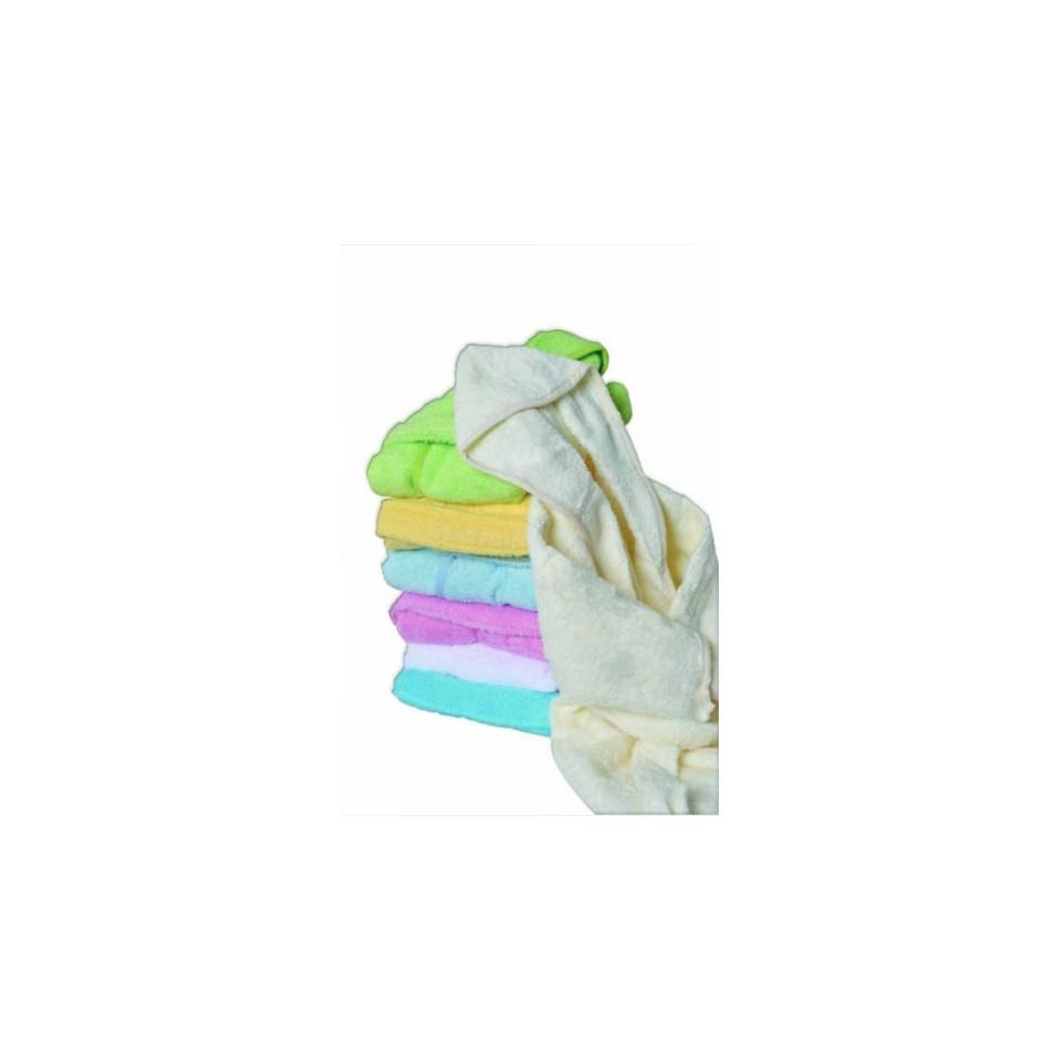 Peignoir uni coton 12/18mois turquoise POYET MOTTE