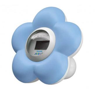 Thermomètre numérique bain et chambre AVENT Fleur bleue
