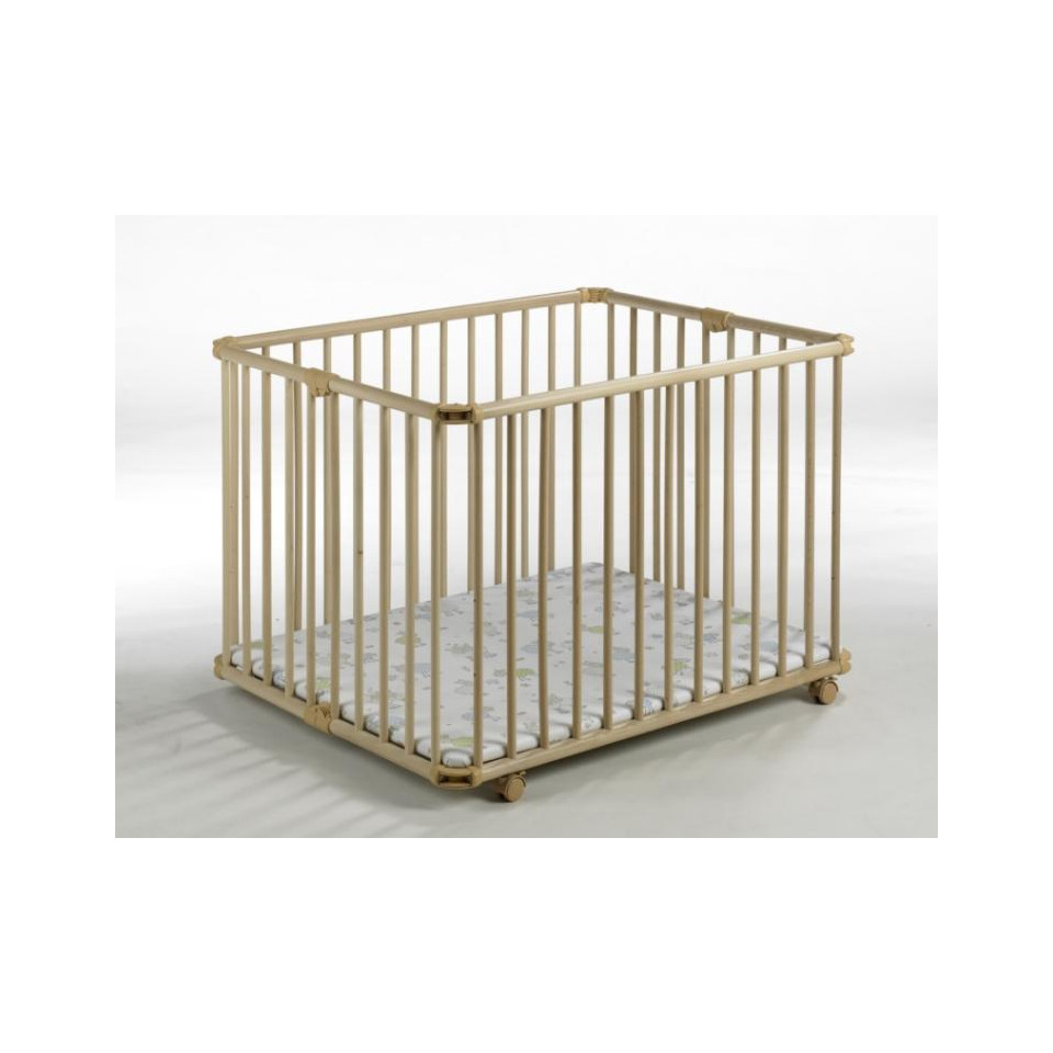 parc pliable lucilee pm 80x102 naturel geuther mouton babydrive. Black Bedroom Furniture Sets. Home Design Ideas