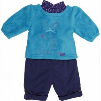 Ensemble 2P Sweat + Pantalon Lapin Bleu BABYGRO 18mois