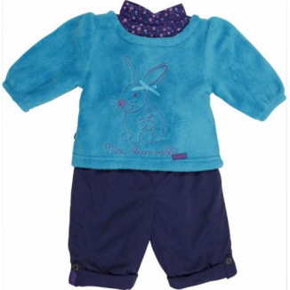 Ensemble 2P Sweat + Pantalon Lapin Bleu BABYGROS 6mois
