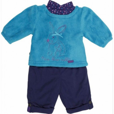 Ensemble 2P Sweat + Pantalon Lapin Bleu BABYGROS 24mois