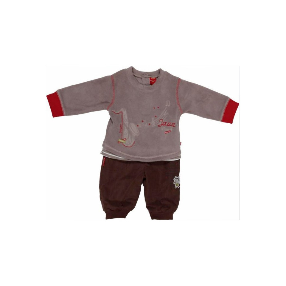 Ensemble Sweat + Pantalon 067 Cacao/Taupe BABYGRO