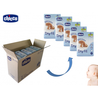 Pack 250 couches Dry Fit Mini T2 3-6kg CHICCO