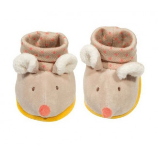 Chaussons souris Biscotte & Pompon MOULIN ROTY