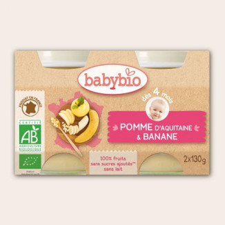 Petit Pot BABYBIO Pomme Banane 130g +3mois