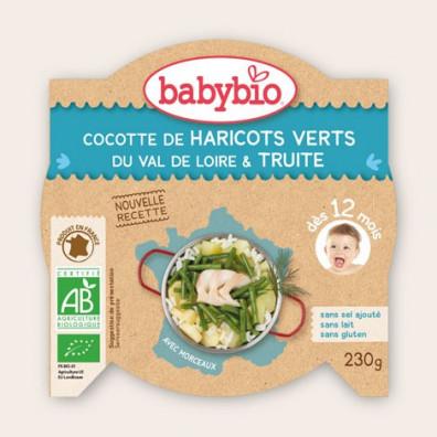 P'tit plat BABYBIO Légumes Truite d'Ariège 230g 12mois