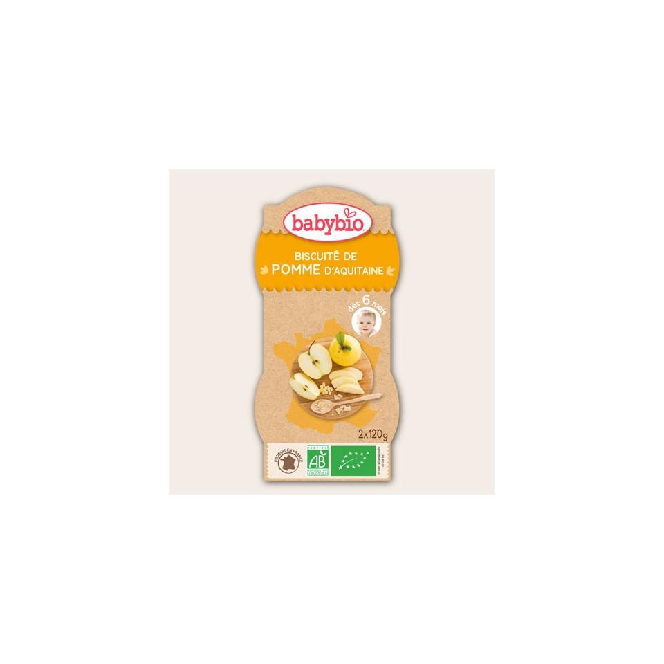 Petits pots BABYBIO Biscuité Pomme 2x120g 6mois