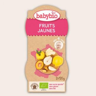 Purée de fruits BABYBIO Fruits Jaunes 2x120g 4mois