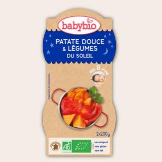 Bol Bonne Nuit BABYBIO Patates douces & Légumes du soleil 2x200g 8mois