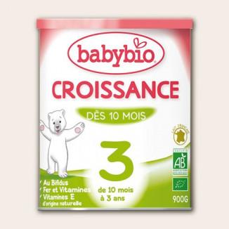 Lait Poudre Croissance BABYBIO 900g 10mois