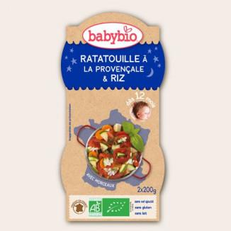 Préparation Bonne Nuit BABYBIO Ratatouille Riz 2x200g 12mois