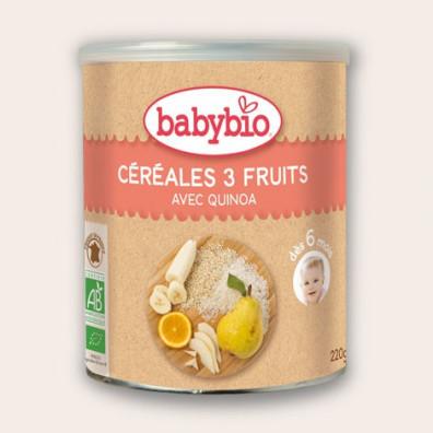 Céréales Quinoa BABYBIO 3 Fruits 220g 6 mois