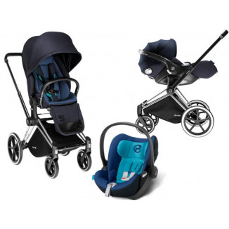 duo luxe priam roues light cybex true blue babydrive. Black Bedroom Furniture Sets. Home Design Ideas