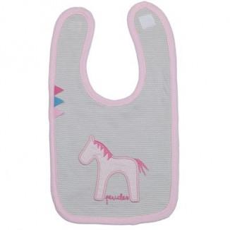 Bavoir velcro small Jersey/pink Jumper PÉRICLES