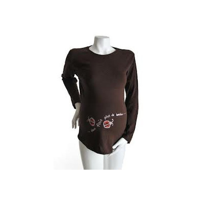 "Tee-shirt Manches courtes TU ""Jumeaux Coccinelle"" Chocolat KELMOI"