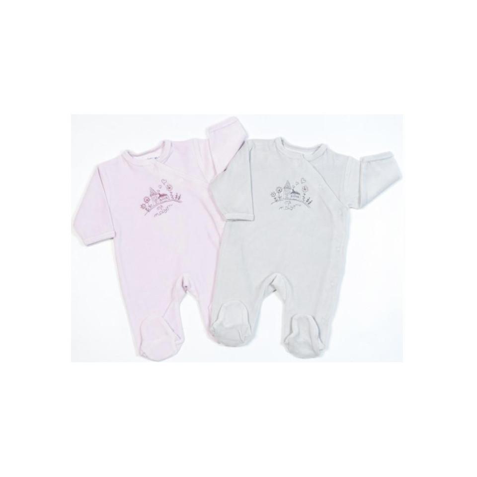 Pyjama Maison velours 3mois LES CHATOUNETS