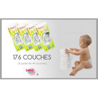 Pack PROMO 176 couches BÉBÉ CASH Free N5 Juni 11/25Kg