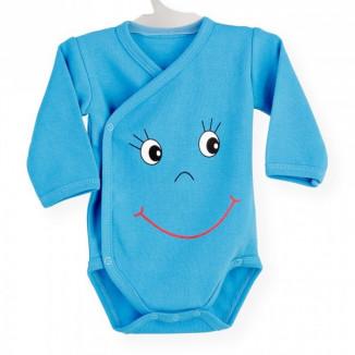 Body croisé Smiley Turquoise 3 mois NOVATEX