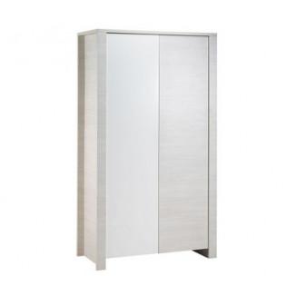 Armoire 2 portes Opale blanc sans motif SAUTHON
