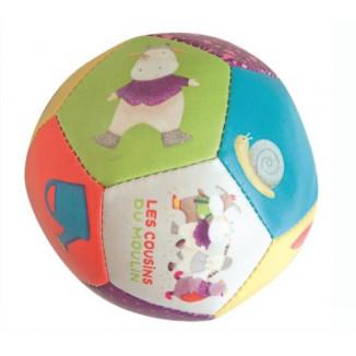 Ballon souple 10cm MOULIN ROTY Les cousins