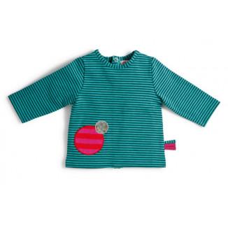 T shirt raye bleu 12M dibou MOULIN ROTY