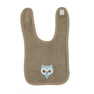 Bavoir velcro Small bamboo Best Friends PERICLES Hibou
