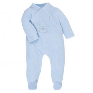 Pyjama 0 mois NOUKIES Poudre d'étoiles bleue