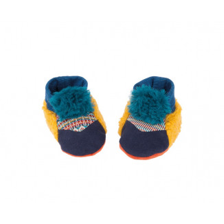 Chaussons bleus MOULIN ROTY Les Zig & Zag