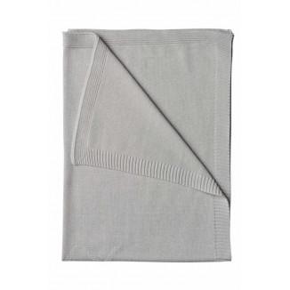 Couverture de lit tricot 100x150 Sweet Kisses VACO Grise