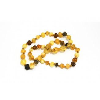 Collier ambre brut KADOLIS Multicolore