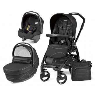 Poussette Trio Book Plus hamac Pop Up PEG PEREGO Bloom Black/TotalBlack
