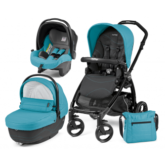 Poussette Trio Book Plus hamac Pop Up PEG PEREGO Bloom Scuba/TotalBlack