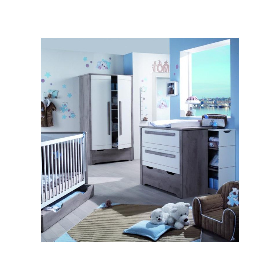 Option tiroir pour lit 70x140 bebe lune kirsten for Chambre kirsten