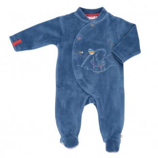 Pyjama 0 mois bleu NOUKIES Victor & Guss