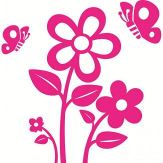 Déco fleur Stickers AT HOME CROCHU