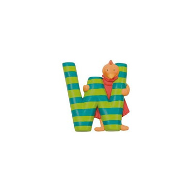 "LETTRE RESINE ""W"" MOULIN ROTY"
