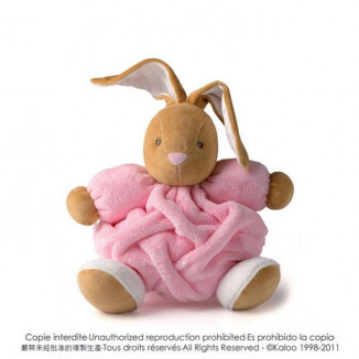 Lapin medium Plume KALOO Rose