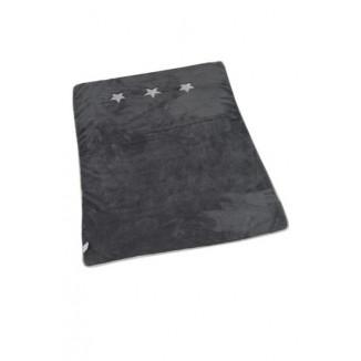 Couverture de lit gris foncé étoile PERICLES Billy&Rafy