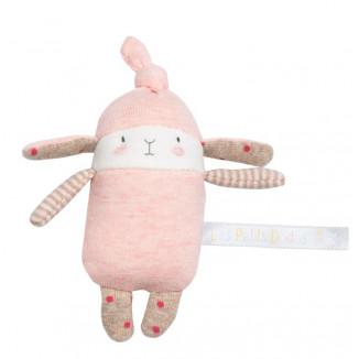Hochet petit lapin rose MOULIN ROTY Les Petits Dodos