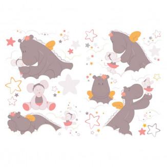 Stickers décoratifs NOUKIES Mia & Victoria