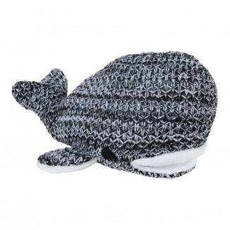 Peluche baleine River BABY'S ONLY Noir et gris mêlé