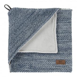 Cape couverture naissance River BABYS ONLY Jeans et gris mêlé