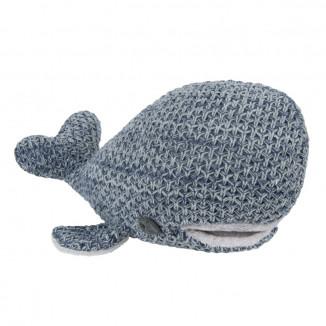 Peluche baleine River BABY'S ONLY Jeans et gris mêlé