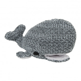 Peluche baleine River BABY'S ONLY Anthracite et gris mêlé